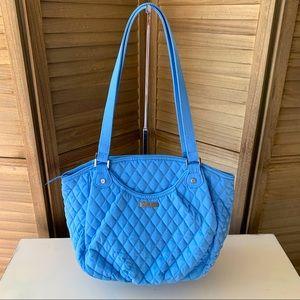 Vera Bradley Sky Blue Glenna Shoulder Bag EUC